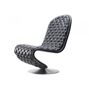 Verpan - System 1-2-3 lav deluxe lounge chair (lædergruppe 1)